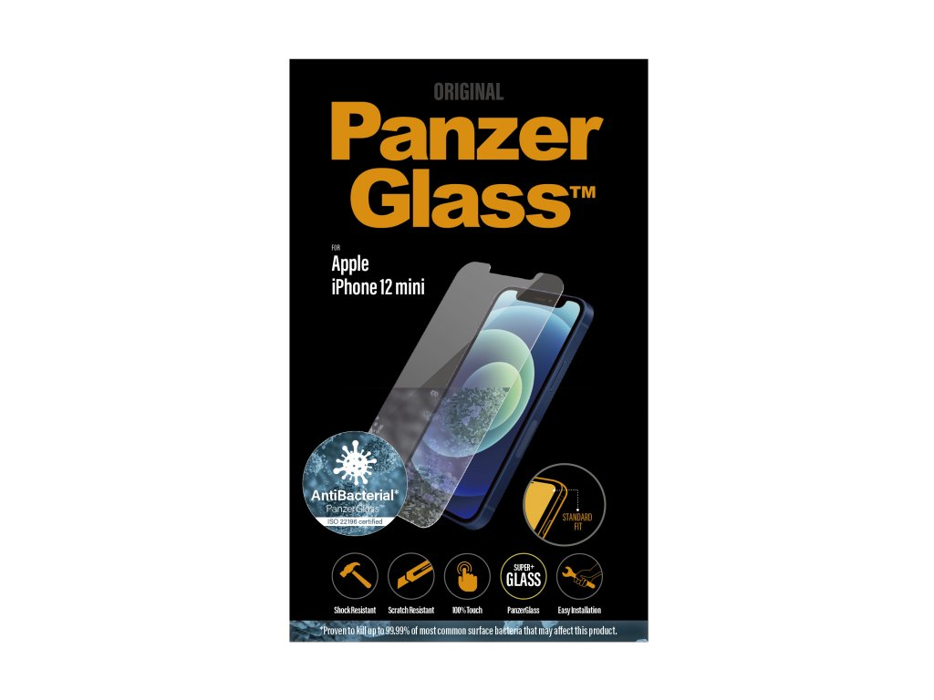PanzerGlass Standard Antibacterial pro Apple iPhone 12 mini čiré