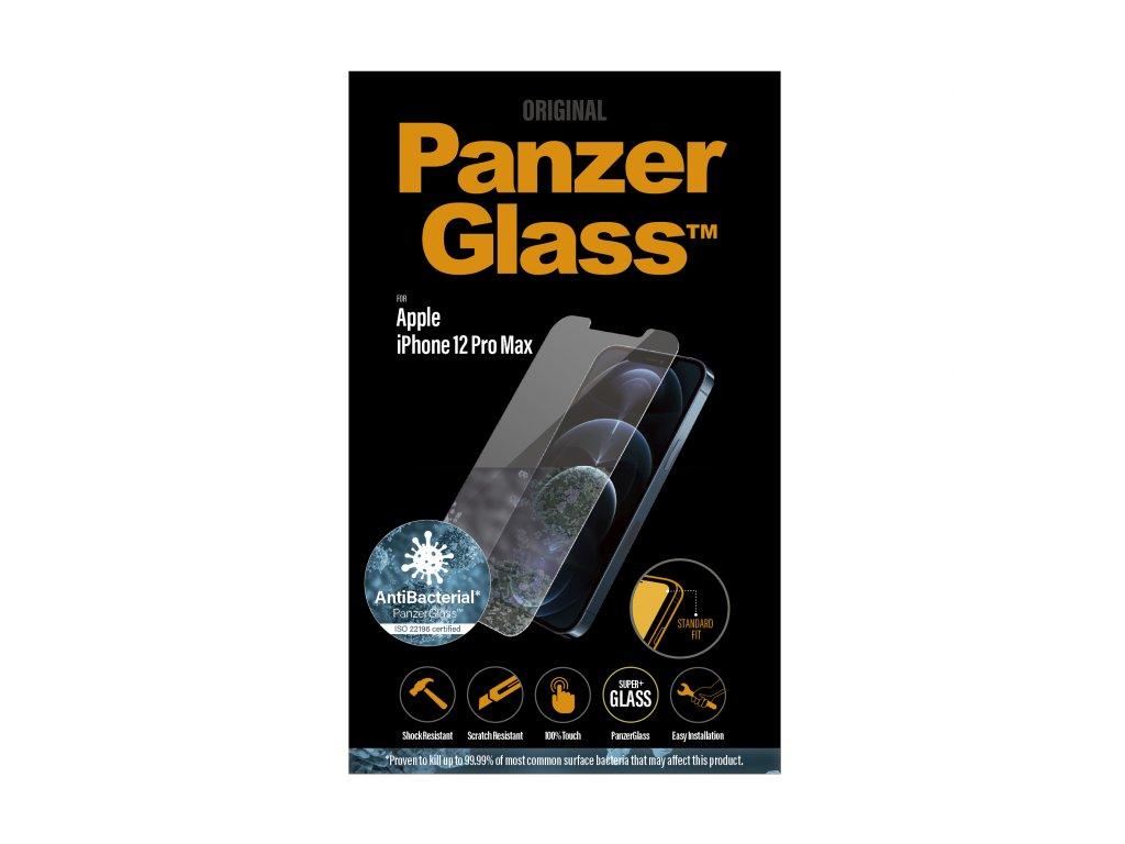 PanzerGlass Standard Antibacterial pro Apple iPhone 12 Pro Max čiré