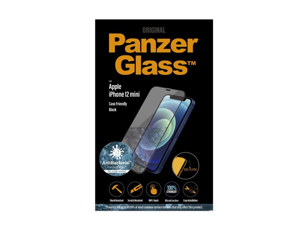 PanzerGlass Edge-to-Edge Antibacterial pro Apple iPhone 12 mini černé