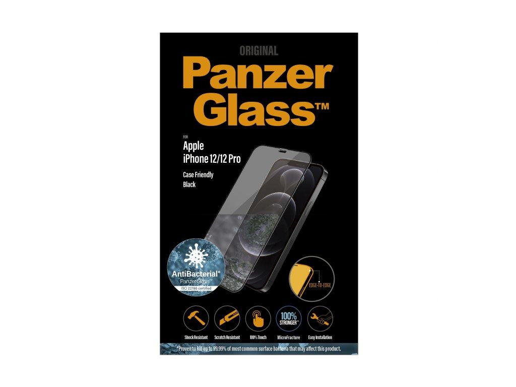 PanzerGlass Edge-to-Edge Antibacterial pro Apple iPhone 12/12 Pro černé