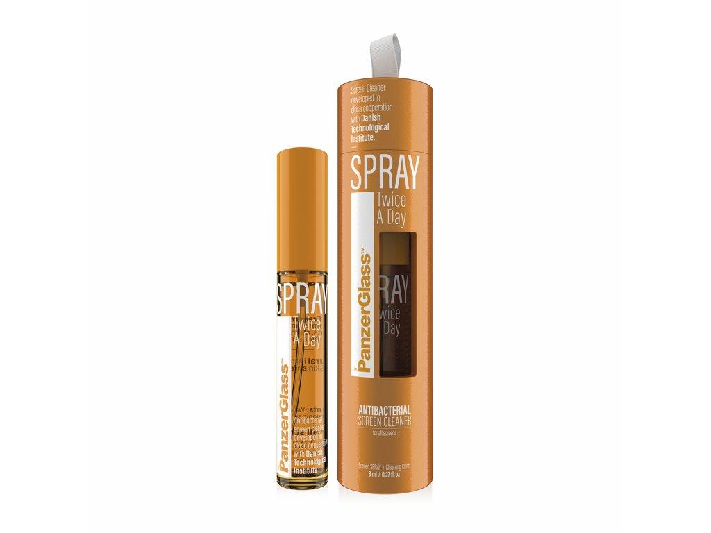 PanzerGlass Spray Twice a Day - desinfekční antibakteriální sprej (8 ml)