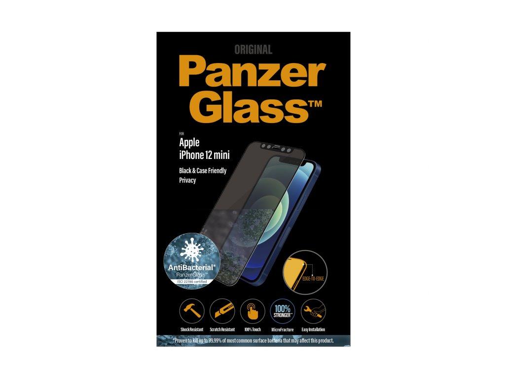 PanzerGlass Edge-to-Edge Privacy Antibacterial pro Apple iPhone 12 mini černé
