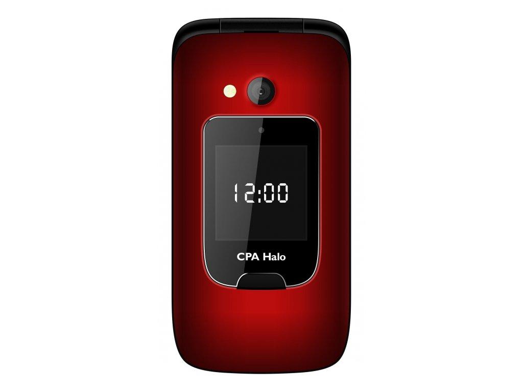 Telefon CPA Halo 15 Senior červený s nabíjecím stojánkem