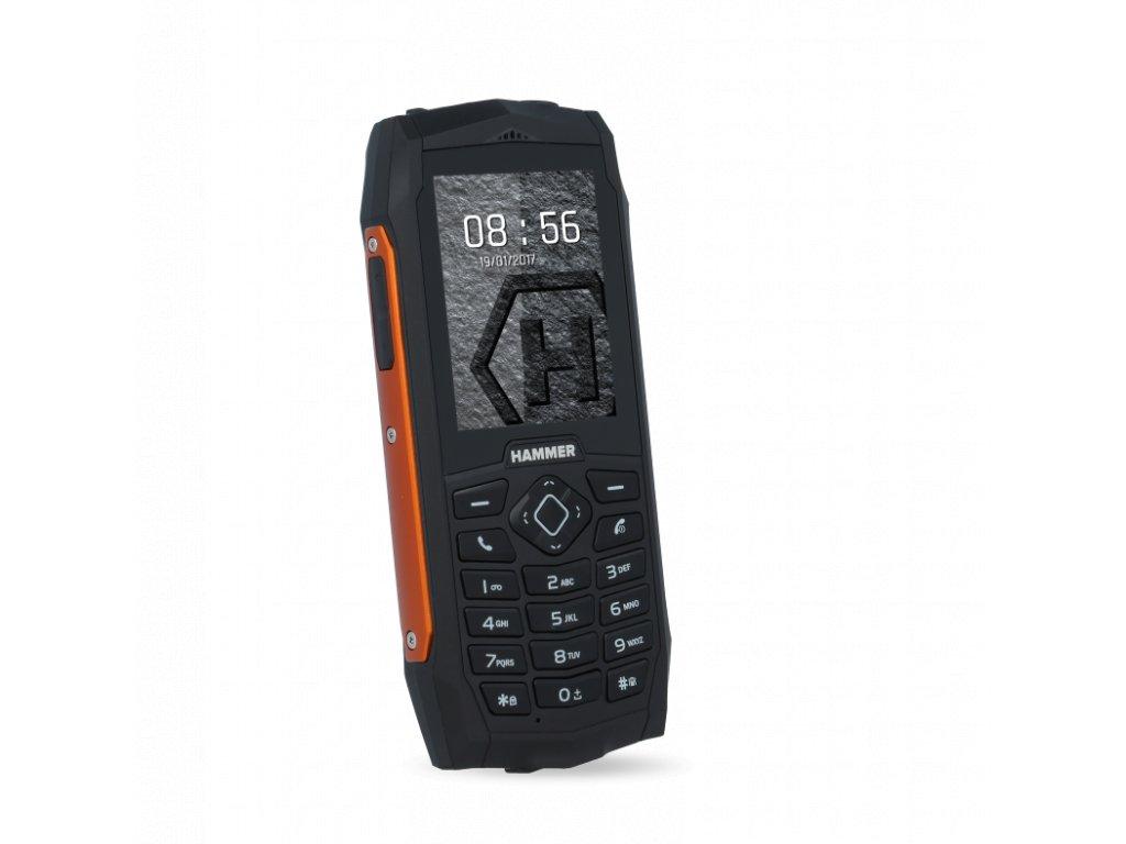 Telefon myPhone Hammer 3 oranžovo-černý