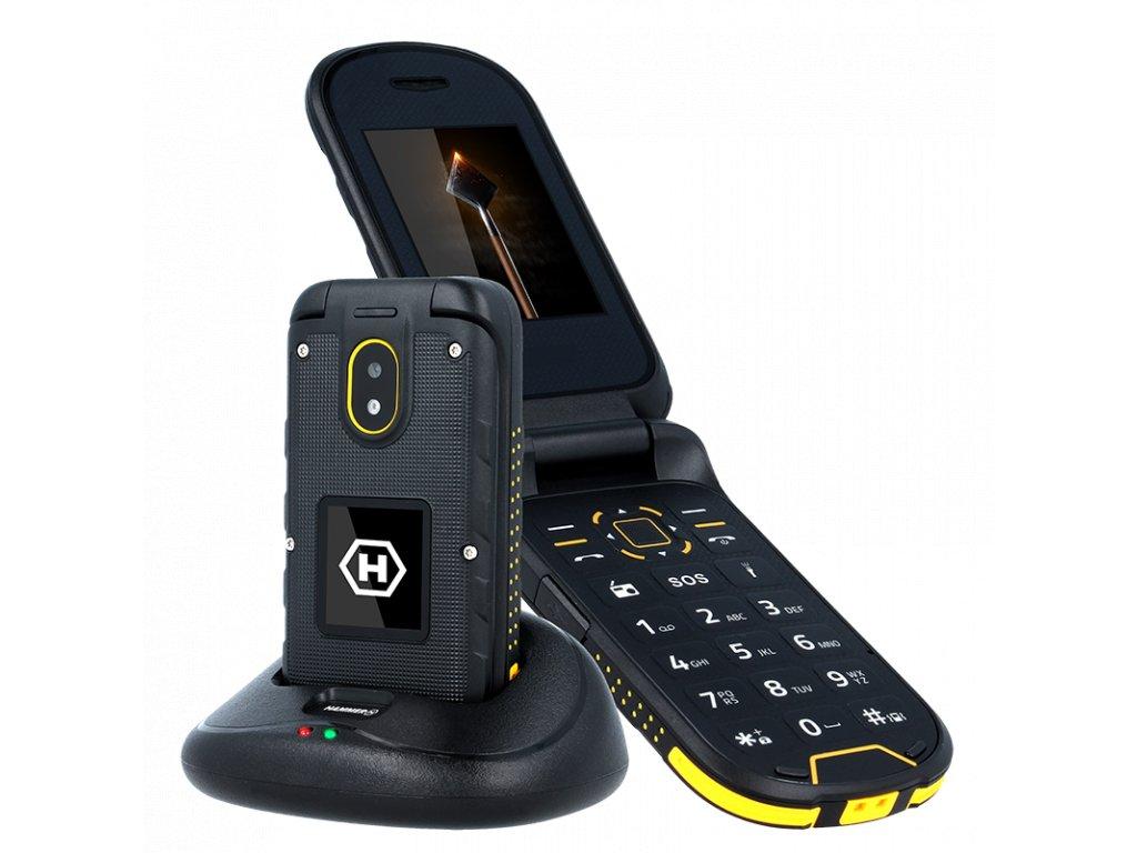 Telefon myPhone Hammer Bow plus oranžovo-černý