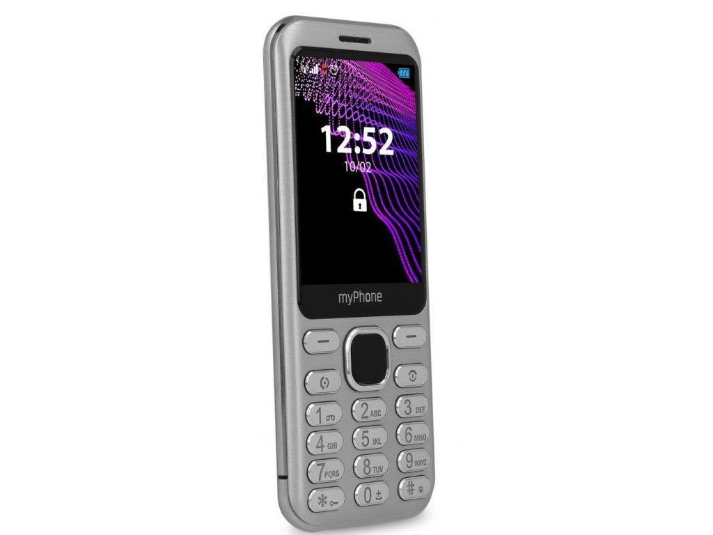 Telefon myPhone Maestro stříbrný