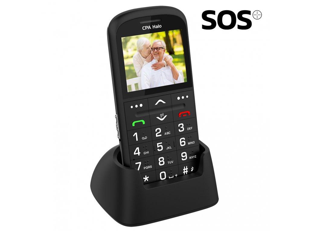 Telefon CPA Halo 11 Pro Senior černý s nabíjecím stojánkem