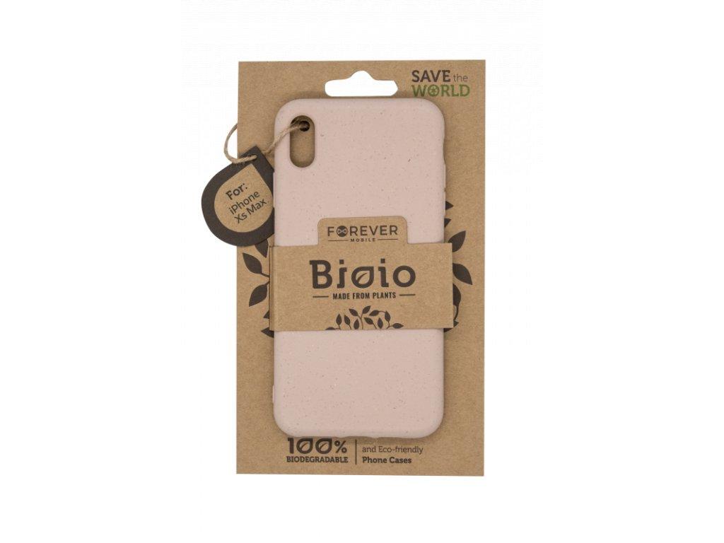 Zadní kryt Forever Bioio pro iPhone XS Max růžový