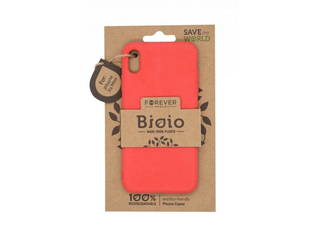 Zadní kryt Forever Bioio pro iPhone XS Max červený