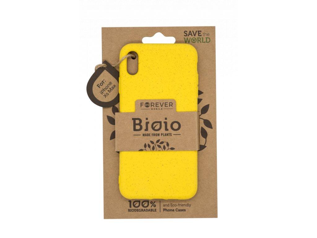 Zadní kryt Forever Bioio pro iPhone XS Max žlutý