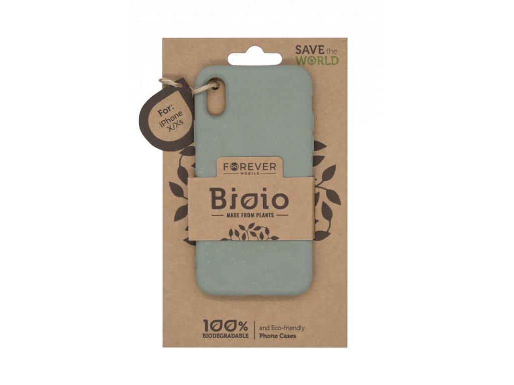 Zadní kryt Forever Bioio pro iPhone X/XS zelený