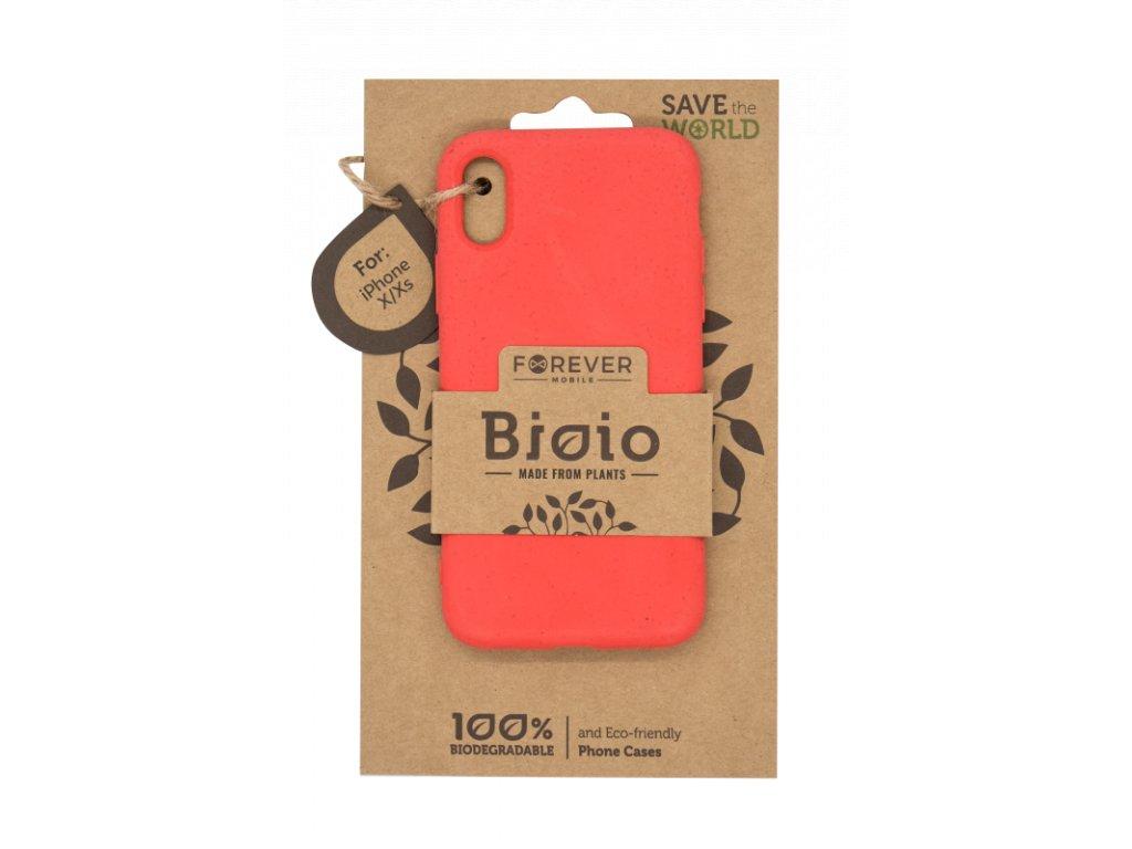 Zadní kryt Forever Bioio pro iPhone X/XS červený