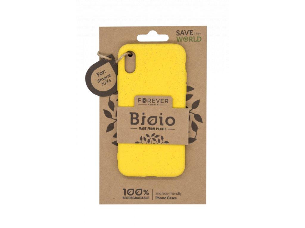 Zadní kryt Forever Bioio pro iPhone X/XS žlutý
