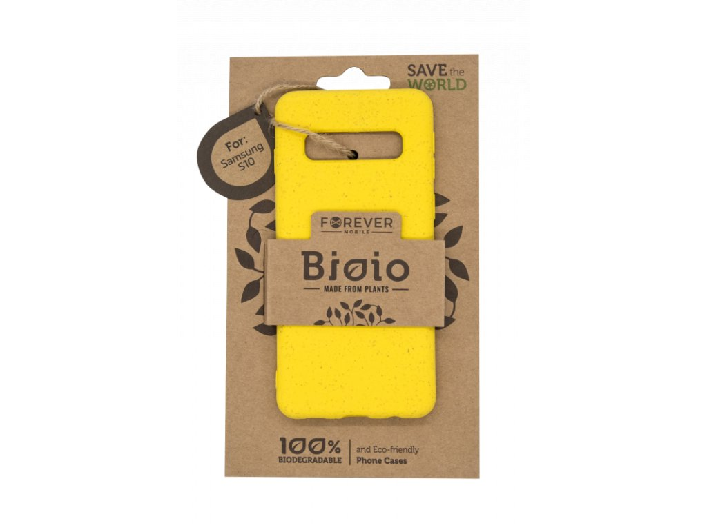 Zadní kryt Forever Bioio pro Samsung S10 žlutý
