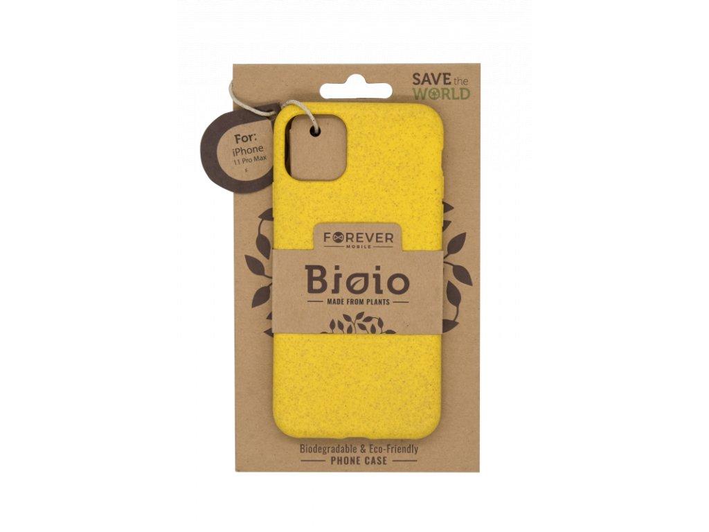 Zadní kryt Forever Bioio pro iPhone 11 Pro Max žlutý
