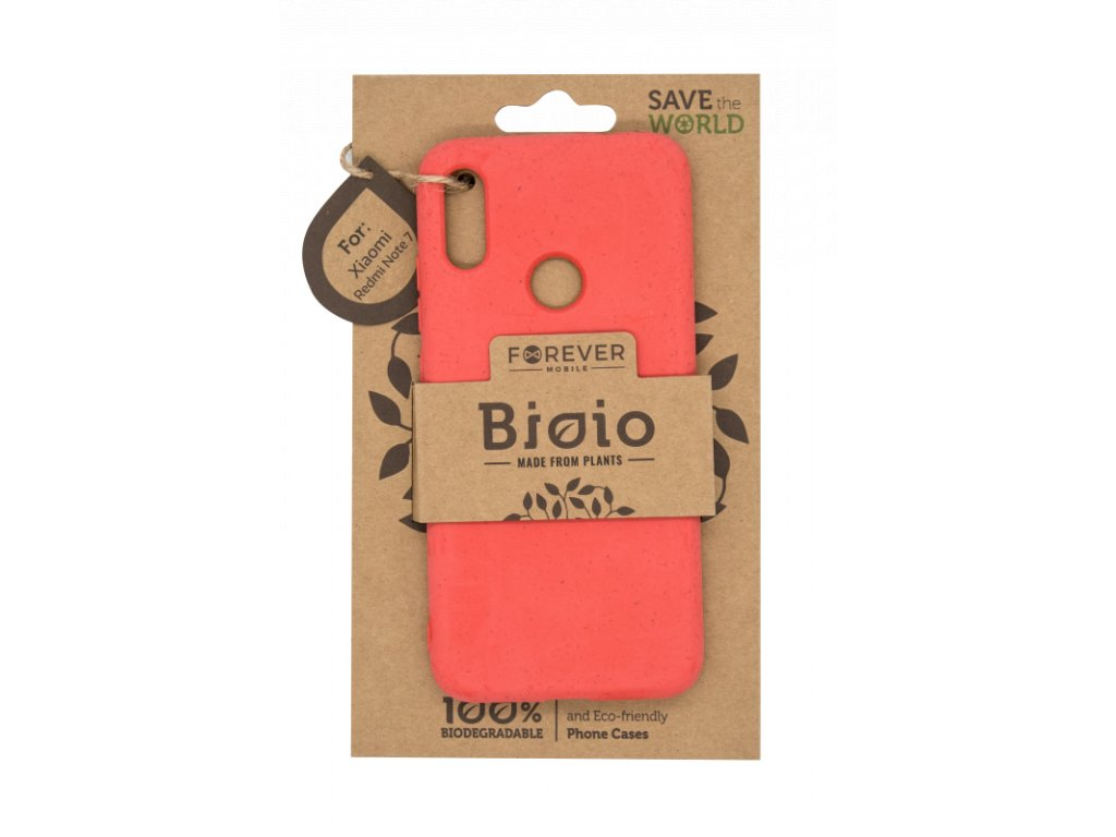 Zadní kryt Forever Bioio pro Xiaomi Redmi Note 7 červený