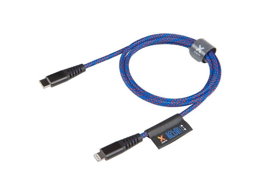 Kabel Xtorm Solid Blue USB-C Lightning 1m