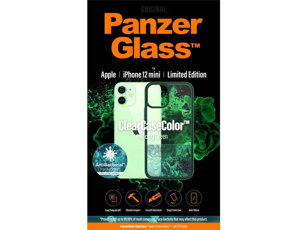 PanzerGlass ClearCase Antibacterial pro Apple iPhone 12 mini (zelený - Racing Green)