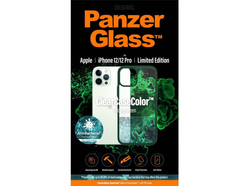 PanzerGlass ClearCase Antibacterial pro Apple iPhone 12/12 Pro (zelený - Racing Green)