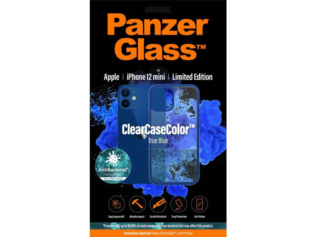 PanzerGlass ClearCase Antibacterial pro Apple iPhone 12 mini (modrý - True Blue)