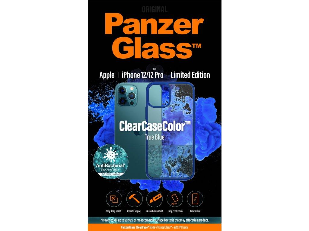 PanzerGlass ClearCase Antibacterial pro Apple iPhone 12/12 Pro (modrý - True Blue)