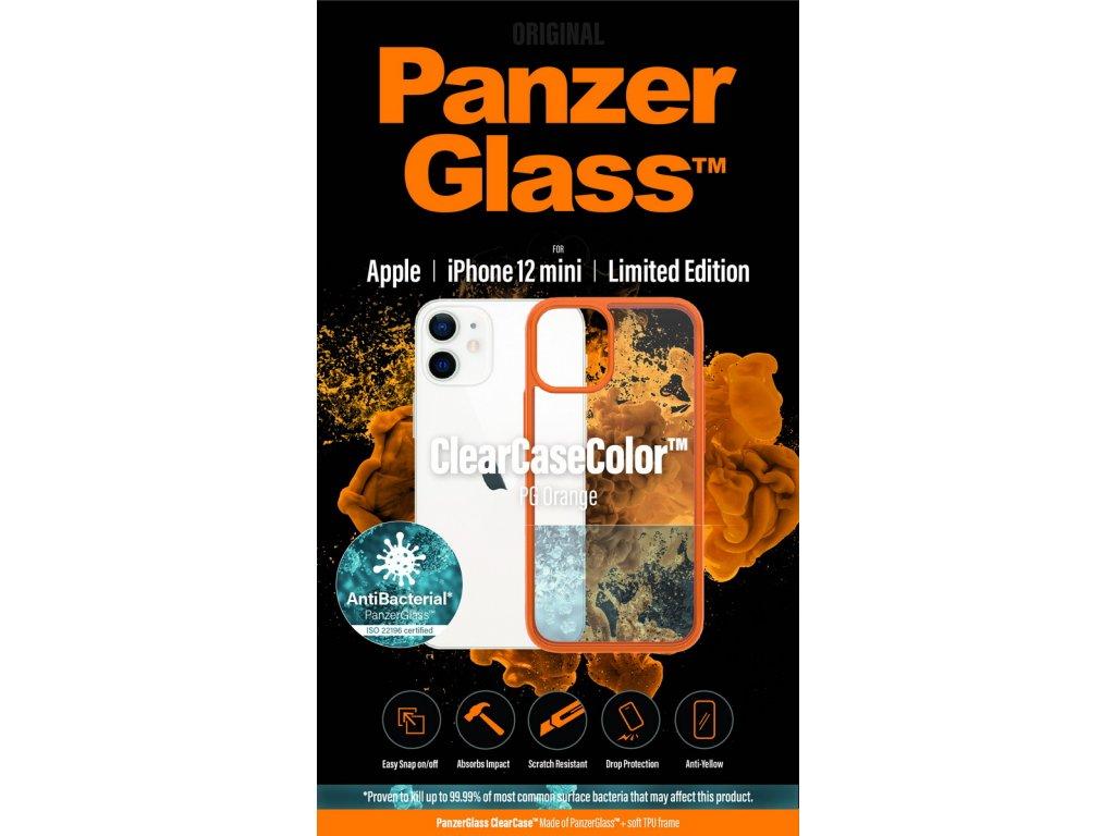 PanzerGlass ClearCase Antibacterial pro Apple iPhone 12 mini (oranžový - PG Orange)