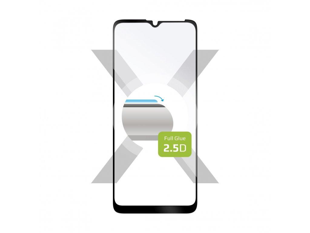 Ochranné tvrzené sklo FIXED Full-Cover pro Motorola Moto E7 Power/E7i Power, lepení přes celý displej, černé