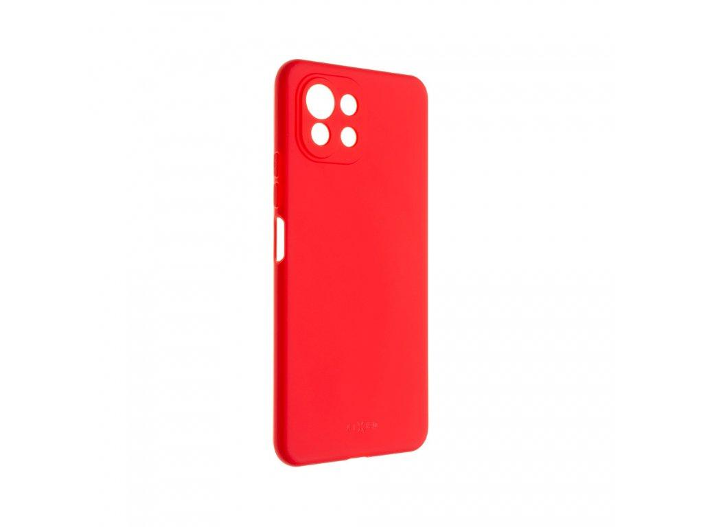Zadní pogumovaný kryt FIXED Story pro Xiaomi Mi 11 Lite/Mi 11 Lite 5G, červený