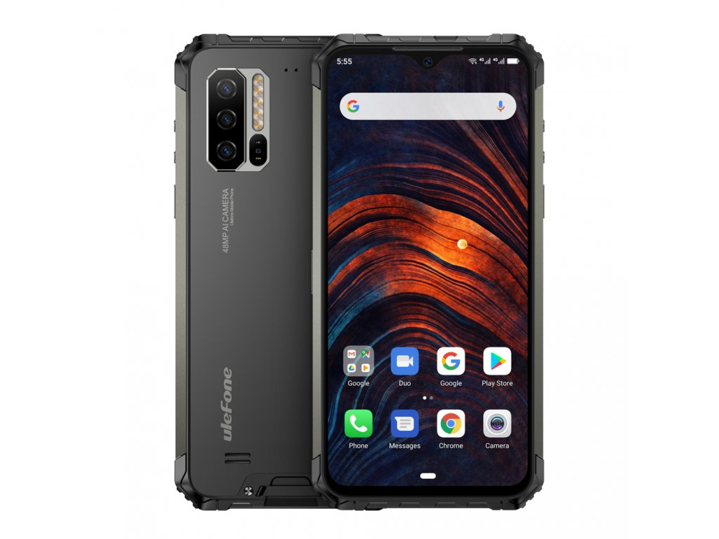 UleFone Armor 7 2020 DS 8+128GB gsm tel. Black