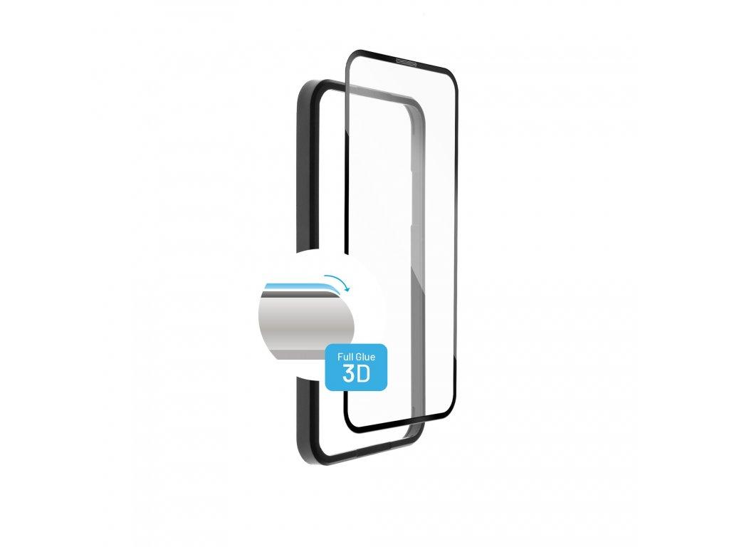 Ochranné tvrzené sklo FIXED 3D Full-Cover s aplikátorem pro Apple iPhone 13 Pro Max, černé