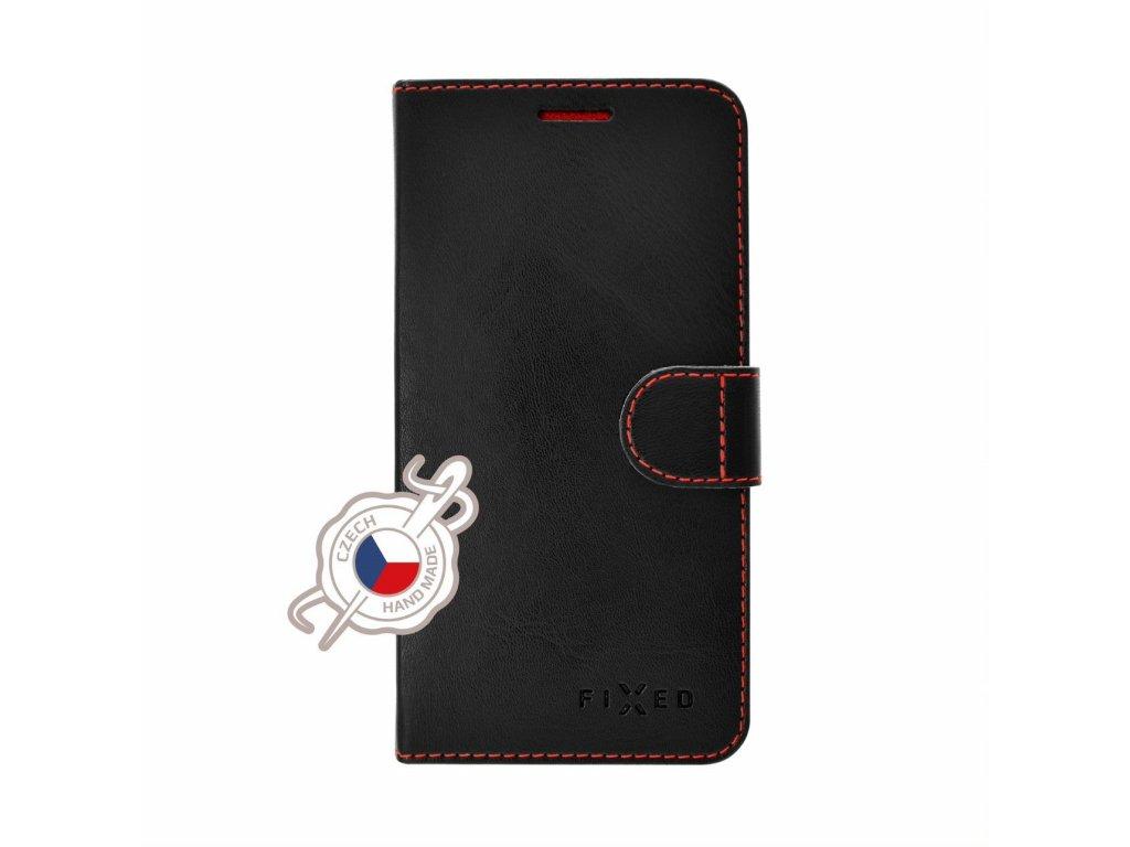 Pouzdro typu kniha FIXED FIT pro Samsung Galaxy A10, černé