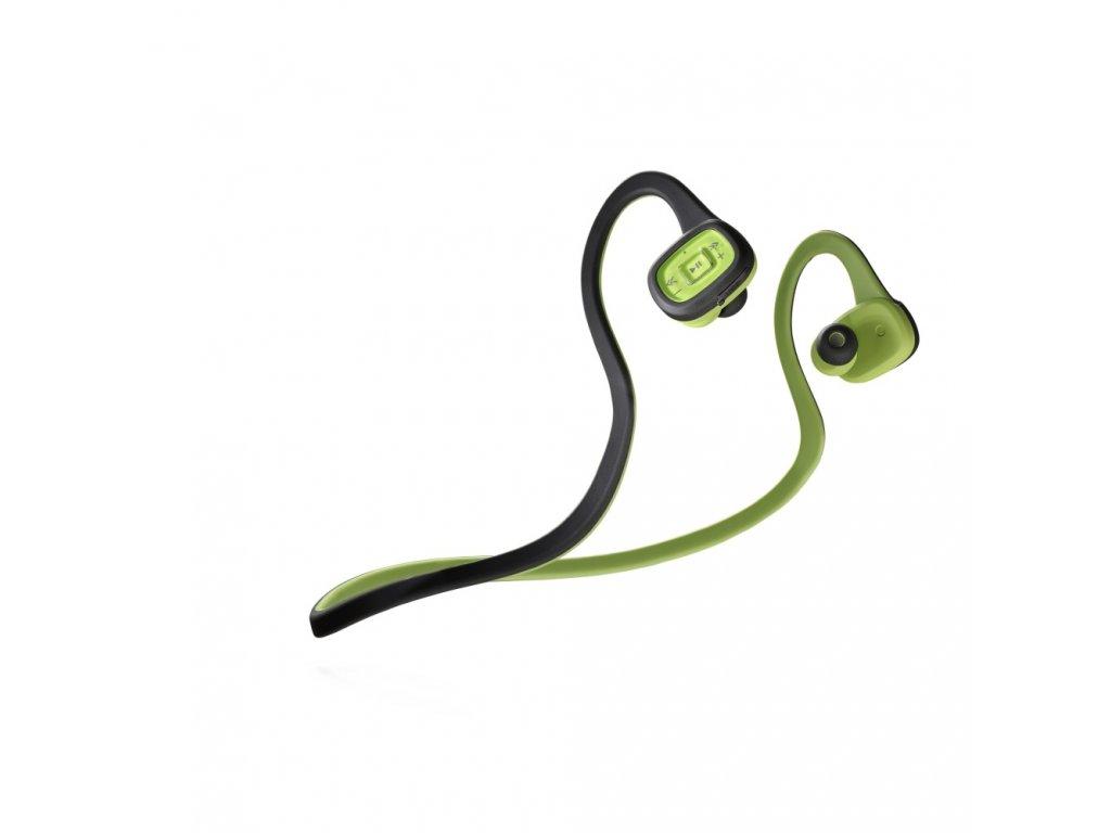 Sportovní bezdrátová In-ear sluchátka CellularLine SCORPION, Bluetooth, černo-zelená