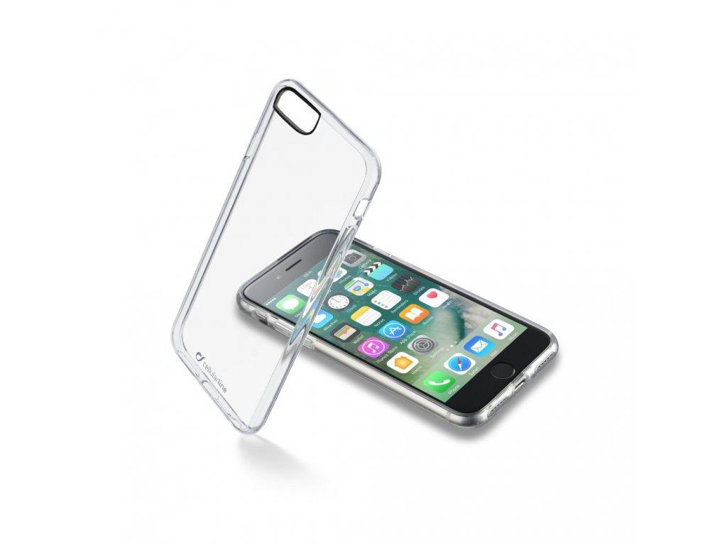 Zadní čirý kryt s ochranným rámečkem Cellularline Clear Duo pro Apple iPhone 7/8/SE (2020)