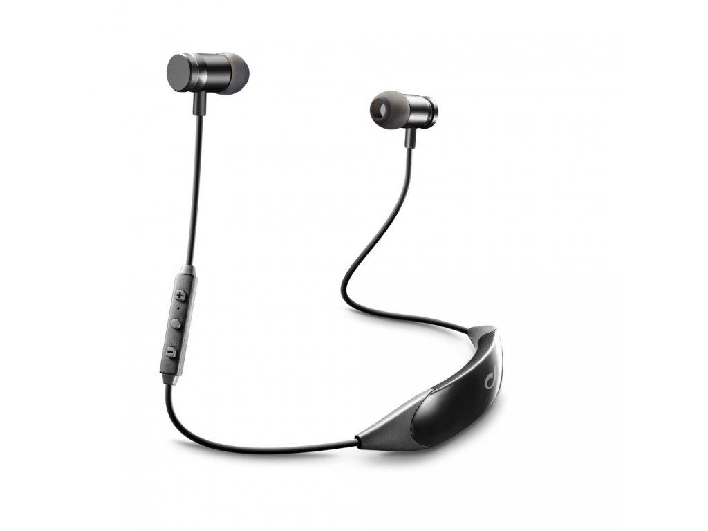 Bezdrátová In-Ear sluchátka CELLULARLINE COLLAR LIGHT, AQL® certifikace, mikrofon, dlouhá výdrž, magnet, černá