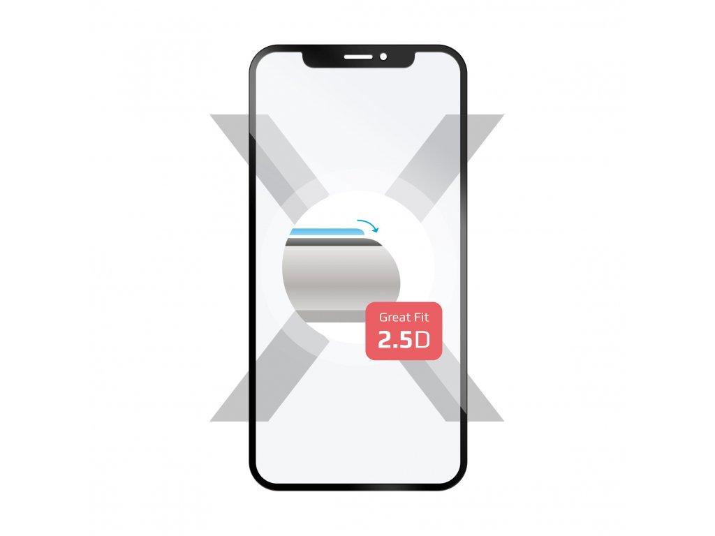 Ochranné tvrzené sklo FIXED Full-Cover pro Samsung Galaxy A8 Plus (2018), přes celý displej, černé, 0.33 mm