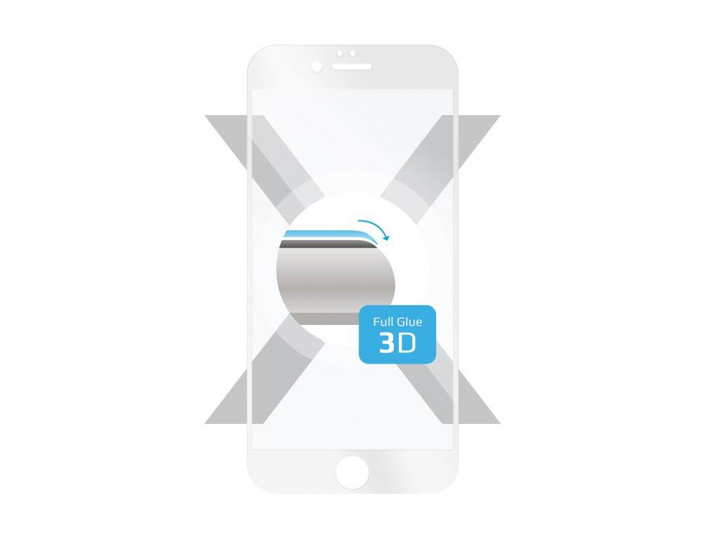 Ochranné tvrzené sklo FIXED 3D Full-Cover pro Apple iPhone 6/6S, s lepením přes celý displej, bílé