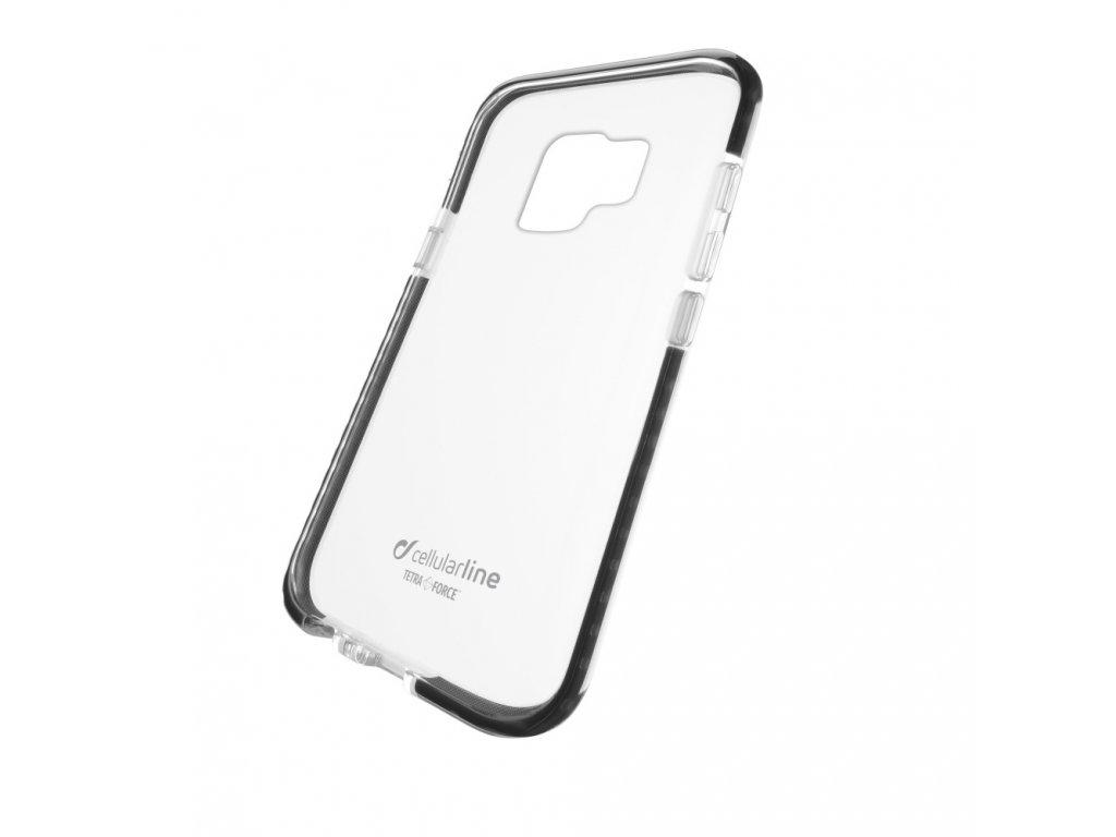 Ultra ochranné pouzdro Cellularline Tetra Force Shock-Twist pro Samsung Galaxy S9, 2 stupně ochrany, černé