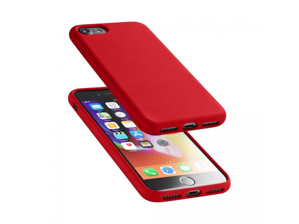 Ochranný silikonový kryt Cellularline Sensation pro Apple iPhone 6/7/8/SE (2020), červený