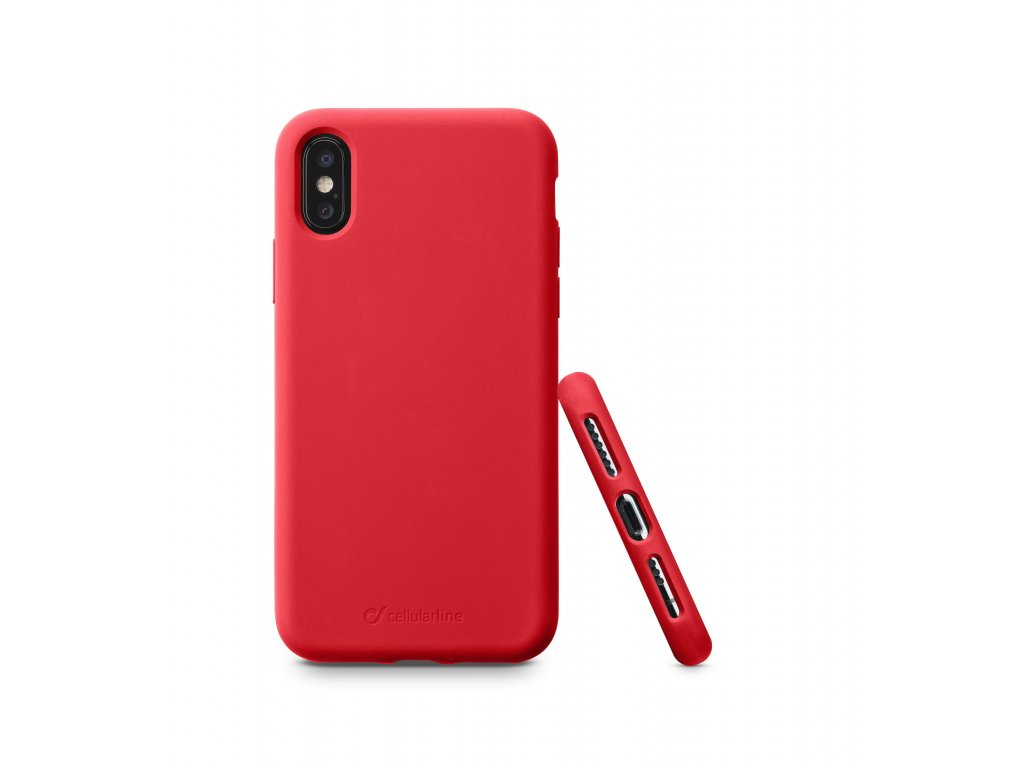 Ochranný silikonový kryt CellularLine SENSATION pro Apple iPhone X/XS, červený