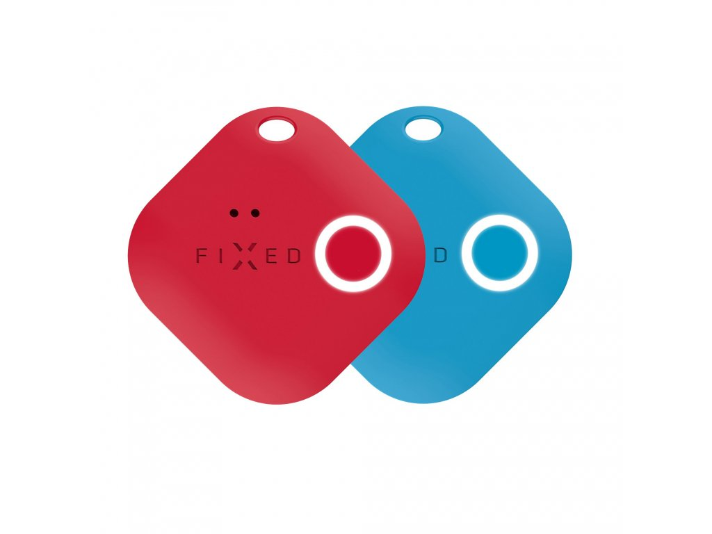 Smart tracker FIXED Smile s motion senzorem, DUO PACK - červený + modrý