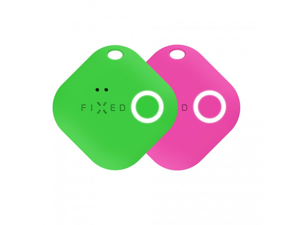 Smart tracker FIXED Smile s motion senzorem, DUO PACK - zelený + růžový