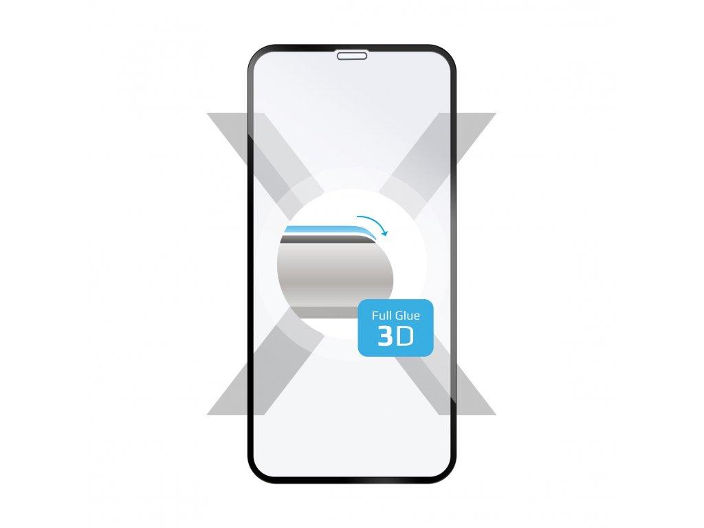 Ochranné tvrzené sklo FIXED 3D Full-Cover pro Apple iPhone XR/11, s lepením přes celý displej, černé