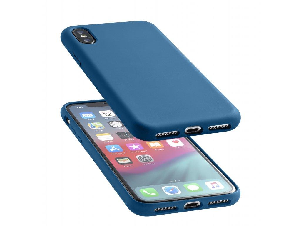 Ochranný silikonový kryt CellularLine SENSATION pro Apple iPhone XS Max, modrý