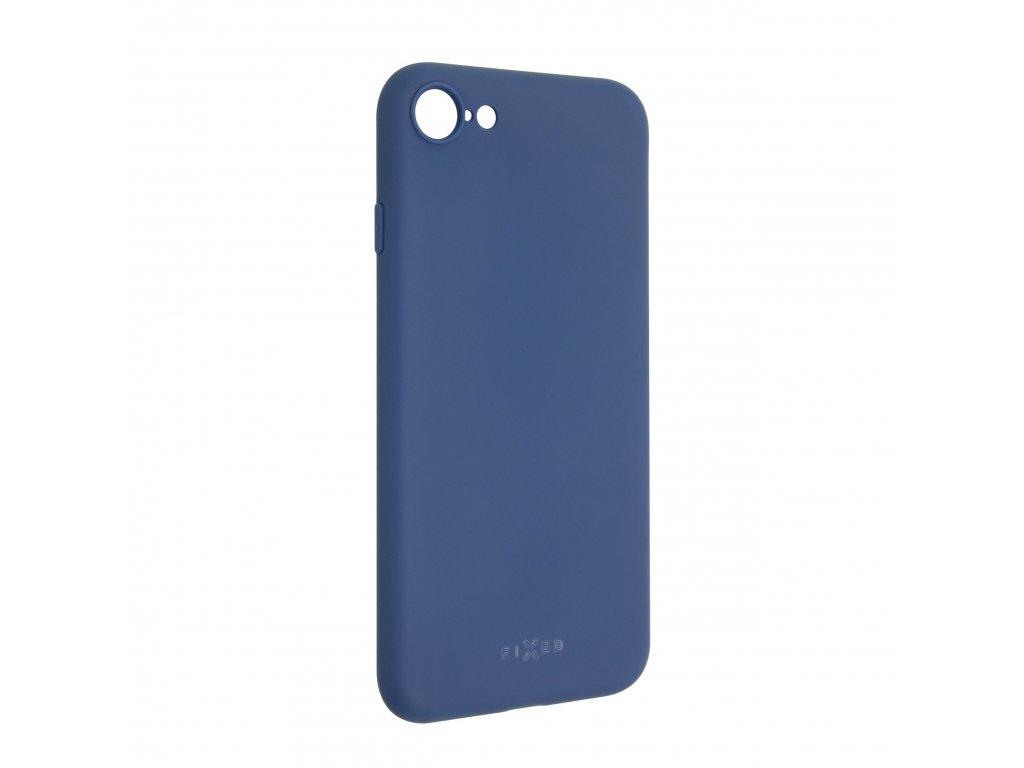 Zadní pogumovaný kryt FIXED Story pro Apple iPhone 7/8/SE (2020), modrý