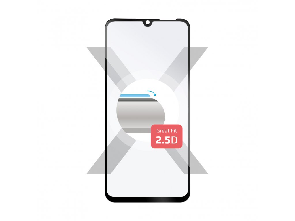 Ochranné tvrzené sklo FIXED Full-Cover pro Huawei P30 Lite, přes celý displej, černé