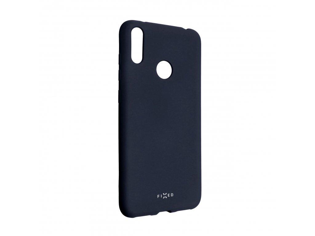 Zadní pogumovaný kryt FIXED Story pro Huawei Y7 (2019), modrý