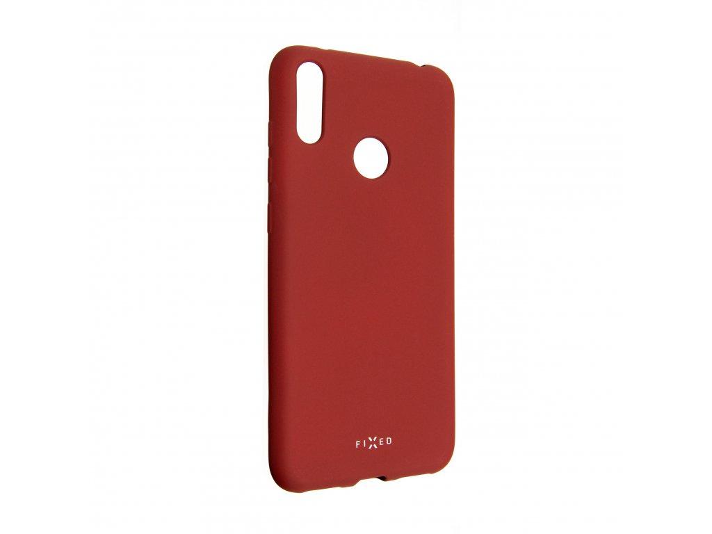 Zadní pogumovaný kryt FIXED Story pro Huawei Y7 (2019), červený