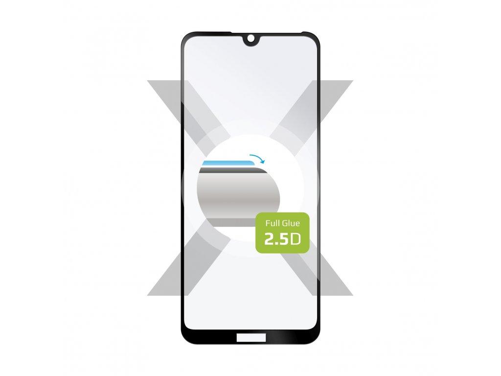 Ochranné tvrzené sklo FIXED Full-Cover pro Honor 8A/Huawei Y6 (2019)/Y6s, lepení přes celý displej, černé
