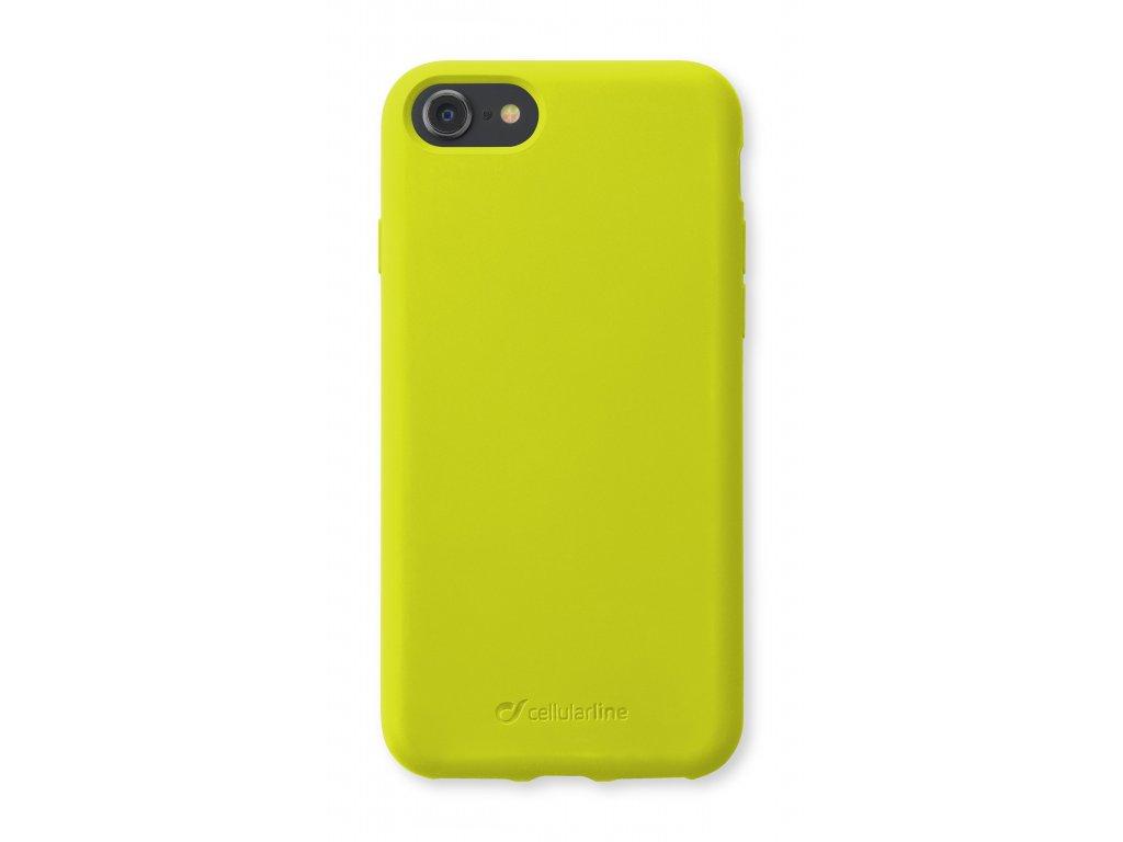 Ochranný silikonový kryt Cellularline Sensation pro Apple iPhone 6/7/8/SE (2020), limetkový neon