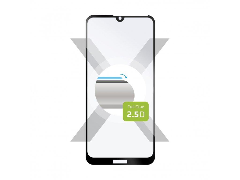 Ochranné tvrzené sklo FIXED Full-Cover pro Huawei Y6 (2019)/Y6s/Honor 8A, lepení přes celý displej, černé
